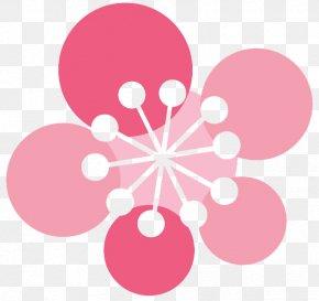 Pink Flowers Skateboard Five - Pink Flower Clip Art PNG