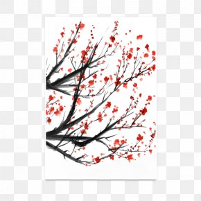 Cherry Blossom - Cherry Blossom Watercolor Painting Graphic Design Cerasus PNG