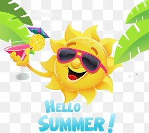 Great Fresh Summer Sun Element - Summer Cartoon Illustration PNG