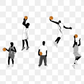 Vector Foot Basketball Player - Basketball Action Figure Slam Dunk Clip Art PNG