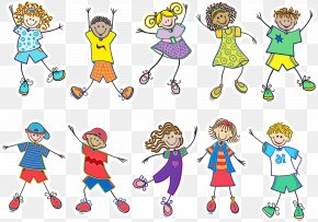 Style Playing In The Snow - Kids Playing Cartoon PNG