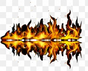Fire Vector Shapes And Reflections - Shape PNG