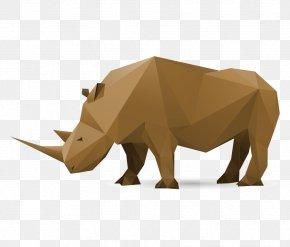 Vector Rhino Box - Rhinoceros Paper Euclidean Vector Polygon PNG