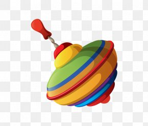 Vector Retro Toys - Top Toy Clip Art PNG