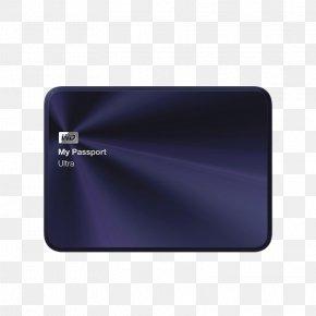 Dark Blue WD Mobile Hard Disk - Hard Disk Drive Western Digital USB 3.0 My Passport PNG