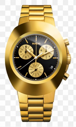 Gold Number - Rolex Daytona Rado Watch Chronograph Quartz Clock PNG