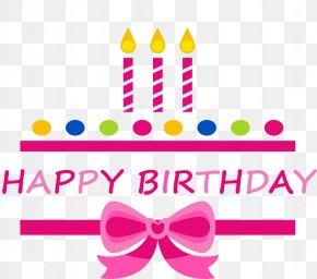 Pink Birthday Happy Celebration Label - Birthday Cake Happy Birthday To You Clip Art PNG