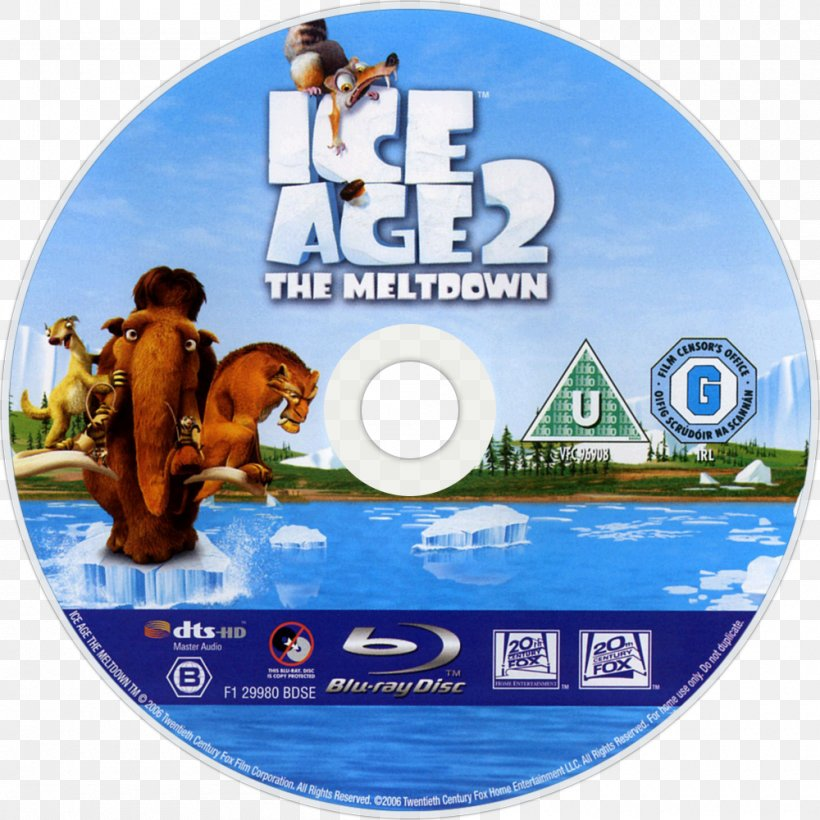 Blu Ray Disc Dvd Ice Age 2 The Meltdown Compact Disc Png 1000x1000px Bluray Disc Animation