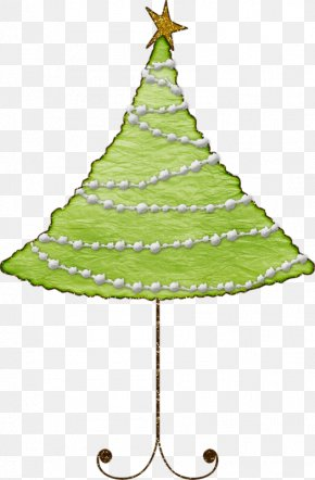 Hand-painted Christmas Tree - Christmas Tree Spruce Fir Paper New Year Tree PNG