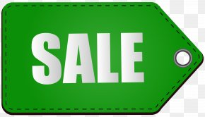 Green Sale Tag Transparent Clip Art Image - Sales Price Icon PNG