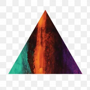 Color Particles Overlapping Triangles Decorative Pattern PNG