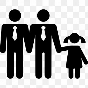 Family Linear Fashion Figures - Mother Child Clip Art PNG
