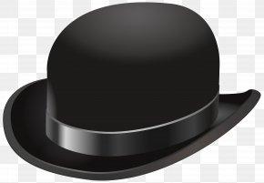 Vintage Hat Transparent Clip Art Image - Bowler Hat Cowboy Hat Clip Art PNG