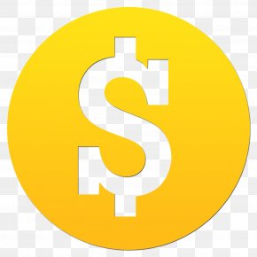 Coin Image - Dollar Sign Money Yellow YouTube Red PNG