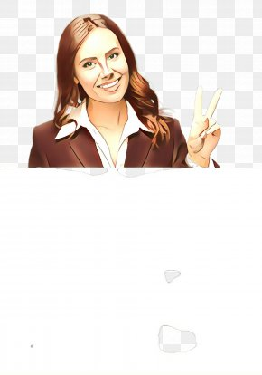 Brown Hair Thumb - Facial Expression Finger Gesture Smile Hand PNG