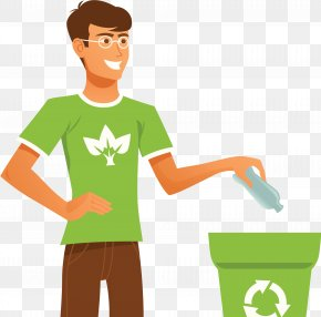 Recyclable Resource Trash Can - Recycling Resources Waste Container Clip Art PNG