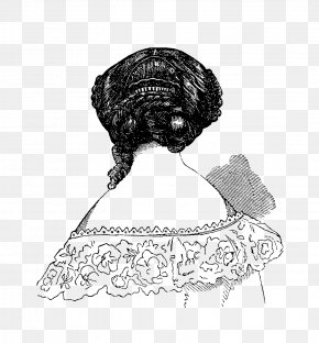 Hair Style - 1880s 1870s Victorian Fashion Hairstyle PNG