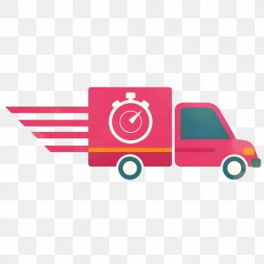 Express Car - Logistics Delivery Courier PNG