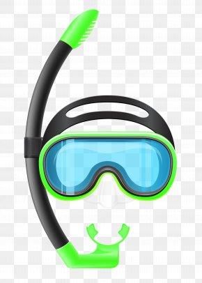 Transparent Snorkel Mask Clipart - Snorkeling Diving Mask Scuba Diving Clip Art PNG