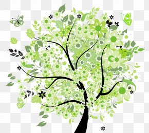 Green Spring Tree Clipart Picture - Tree Spring Clip Art PNG