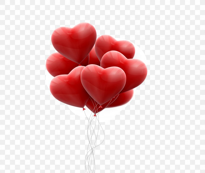 Valentine's Day Hearts, PNG, 1848x1563px, Heart, Balloon, Hot Air Balloon, Love, Petal Download Free