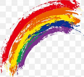 Rainbow - Rainbow Watercolor Painting Euclidean Vector PNG
