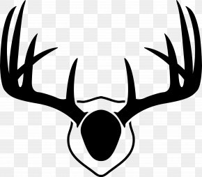 Antlers Cliparts - Reindeer White-tailed Deer Antler Drawing PNG