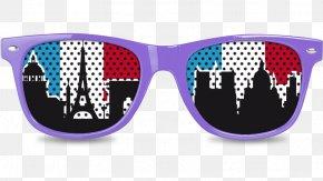 Skyline Paris - Goggles Sunglasses PNG