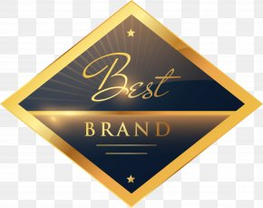 Vector Hand Painted Gold Label - Metal PNG