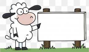 Lamb Billboard - Cotswold Sheep Cartoon Wool PNG