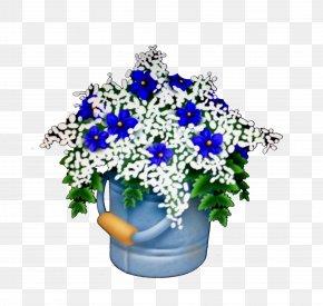 Blue Flower - Cut Flowers Blue Flower Bouquet Floral Design PNG