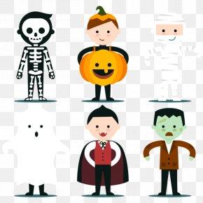 Vector Lovely Children Preparing To Celebrate Halloween - Halloween Euclidean Vector Clip Art PNG