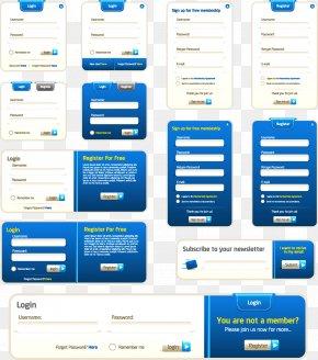 Web Form Design - Web Design Form Web Page Flat Design PNG