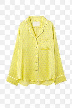 Silk - Outerwear Sleeve Jacket Button Blouse PNG