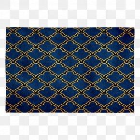 Place Mats Cobalt Blue Symmetry Rectangle Pattern PNG