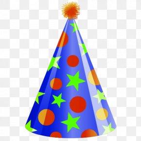 Cartoon Birthday Hat - Birthday Party Hat Clip Art PNG