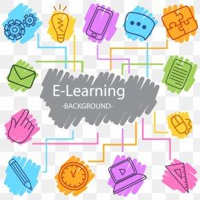 Digital Learning Vector Background - Digital Learning Digital Data Icon PNG
