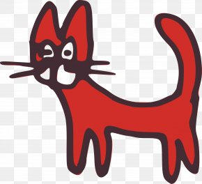 Red Cat Cliparts - Black Cat Kitten Cougar Clip Art PNG