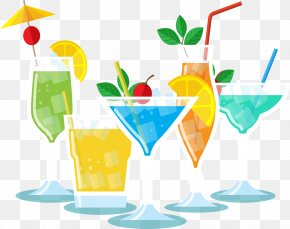 Beach Party Soft Drink - Cocktail Garnish Soft Drink Party Clip Art PNG