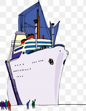 Vector Hand-painted Ship - Ship Clip Art PNG