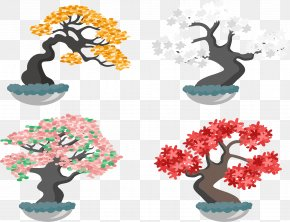 Beautiful Plant Potted Plants - Bonsai Plant Euclidean Vector Tree PNG
