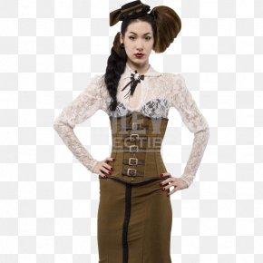 Corset - Corset Waist Dress Abdomen Sleeve PNG