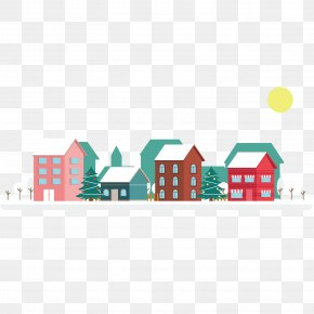 Winter Town Landscape - Landscape Graphics Winter PNG
