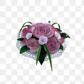 Wedding - Garden Roses Flower Bouquet Cabbage Rose Pink Floral Design PNG