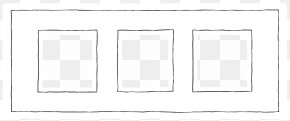Windows Black Lines - Window White Picture Frame Pattern PNG