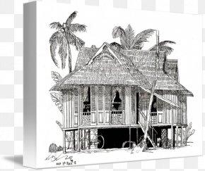 House - Nipa Hut House Muar Kampung Malaysia PNG