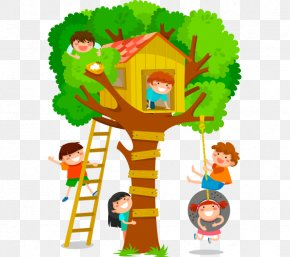 House - Tree House Stock Photography Child PNG