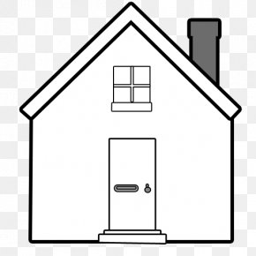 A House With A Chimney - Window House Chimney Building PNG