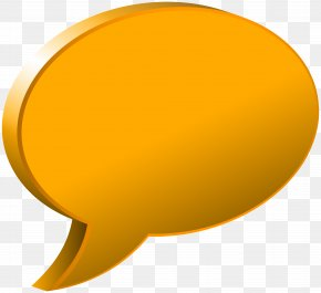 Speech Bubble Orange Transparent Image - Yellow Circle Font PNG
