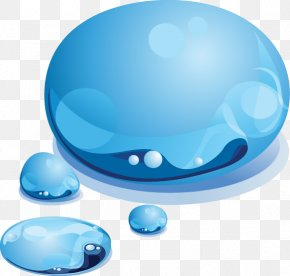 Blue Drops - Drop Color Graphic Design PNG